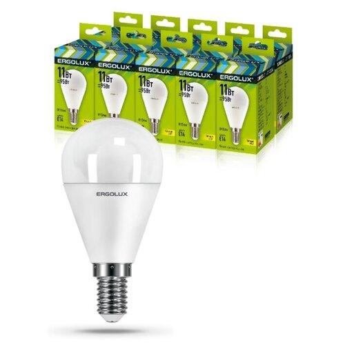 Фото - Светодиодная Лампа Ergolux LED-G45-11W-E14-3K упаковка 10 шт светодиодная лампа ergolux led g45 11w e27 6k упаковка 10 шт