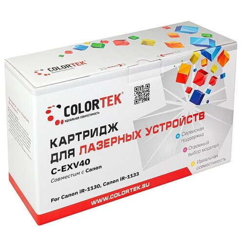 Фото - Картридж лазерный Colortek CT-EXV40 для принтеров Canon картридж colortek ct tn 2080 для принтеров brother