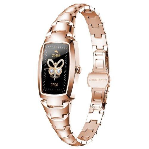 Смарт часы женские Lemfo H8 PRO (золотистый)