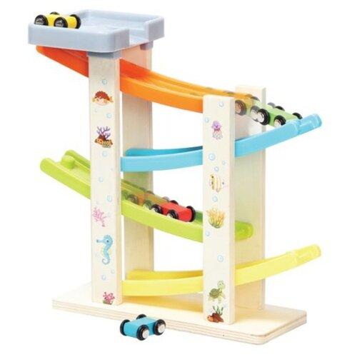 Купить Развивающая игрушка Mapacha Паркинг 76833 бежевый/голубой/желтый/оранжевый, Развитие мелкой моторики