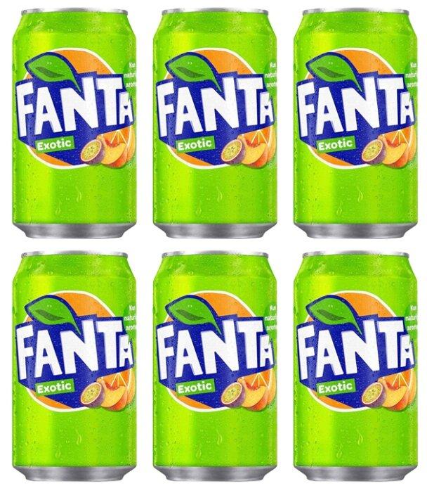 Газированный напиток Fanta Exotic (6 шт. по 330 мл) — купить по выгодной цене на Яндекс.Маркете