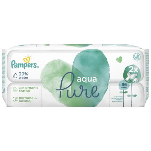 Влажные салфетки Pampers Aqua Pure, пластиковая крышка, 96 шт.