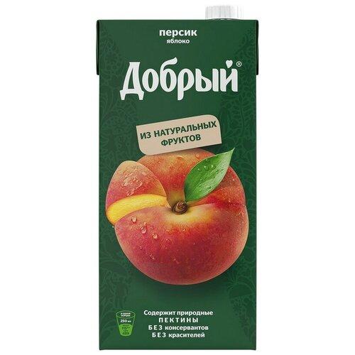 Нектар Добрый персик-яблоко2 л 2 шт. нектар добрый персик яблоко с крышкой 2 л