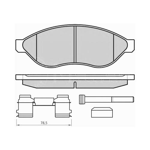 MEYLE 0252446819W2 (1607878580 / 24468 / 425357) комплект тормозных колодок, дисковый тормоз