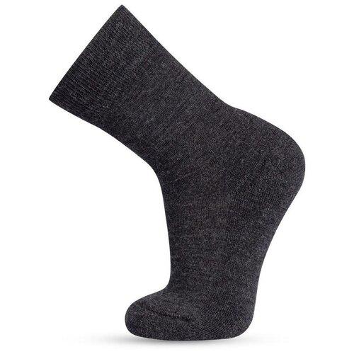 Термоноски детские шерстяные серии SOFT MERINO WOOL, цвет темно-серый меланж, размер 27-30