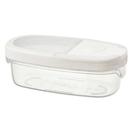 IKEA 365+ икеа/365+ Контейнер+крышка д/сухих продуктов, прозрачный/белый0.3 л Набор 4 шт