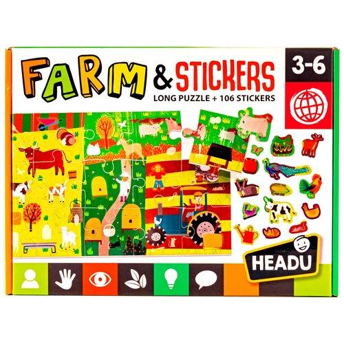 Настольная игра-пазл Ферма со стикерами