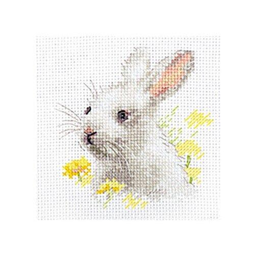 Купить 0-226 Набор для вышивания АЛИСА 'Белый крольчонок' 9x9см, Алиса, Наборы для вышивания