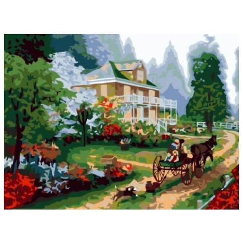 Купить Картина по номерам Цветной «Поместье» (холст на подрамнике, 30х40 см), Картины по номерам и контурам
