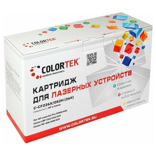 Фото - Картридж лазерный Colortek CT-CF226X/C-052H для принтеров HP и Canon картридж лазерный colortek ct ar016t для принтеров sharp