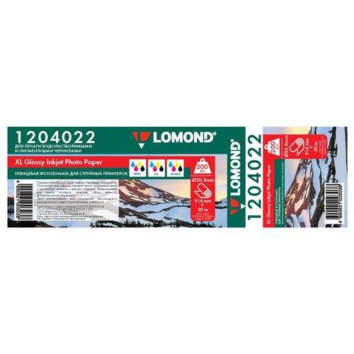Фото - Бумага Lomond 914 мм XL Photo Paper Glossy 1204022 200г/м2 30м, белый бумага lomond 914 мм xl premium super glossy photo paper 1201032 190 г м² 30 м белый