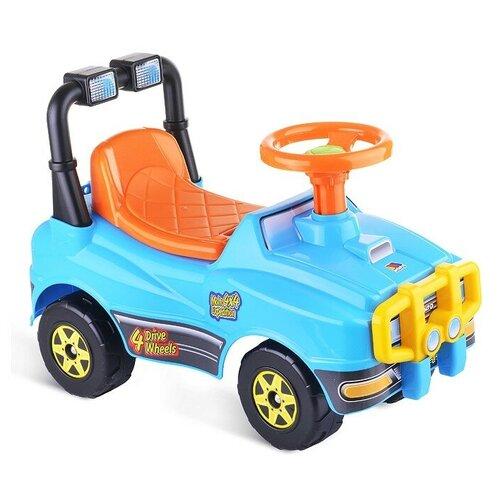 Купить Автомобиль Джип-каталка - №2 (голубой), Полесье, Каталки и качалки