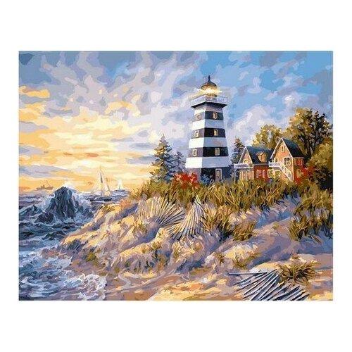 Купить Картина по номерам на холсте Paintboy Маяк , 40х50 см, GX-31753, Картины по номерам и контурам