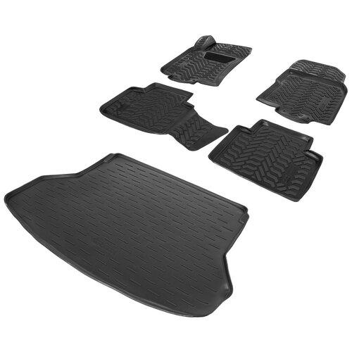 Фото - Коврики в салон и багажник автомобиля AutoFlex для Nissan X-Trail T32 2015-2018 2018-н.в., полиуретан, черные, 5 частей, без крепежа, K9410201-2 коврики в салон l locker для nissan x trail t32 2014
