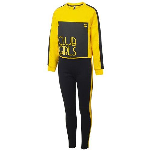 Спортивный костюм Nota Bene размер 140, черный/желтый