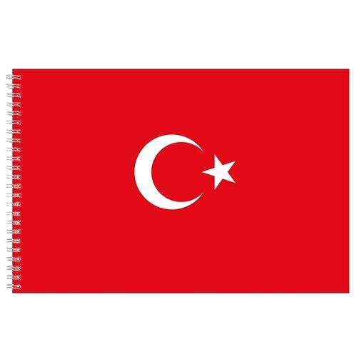 Альбом для рисования, скетчбук Флаг Турции