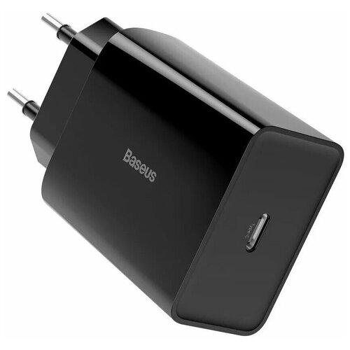Сетевой адаптер Type-C 3A Baseus Speed Mini Quick Charger 1C 20W Black / Quick Charger / type c быстрая зарядка / type-c samsung / тайп си / адаптер / быстрая зарядка / для зарядки Андроид / зарядка для Samsung / Honor / Xiaomi / Huawei /OPPO/ зарядное устройство / зарядка телефона / зарядка для Apple / зарядка для iPhone / зарядка для айфон / зарядка для Айпад / зарядка для iPad