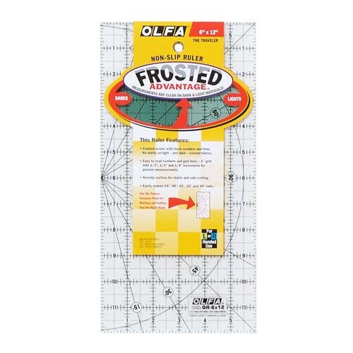 Линейка для пэчворка Frosted, градация в дюймах 6 х 12 Olfa QR-6x12