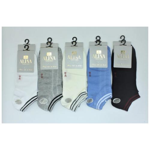 Носки женские Alina ZB 018 10пар, белые, серые, молочные, синие, черные, размер 39-42
