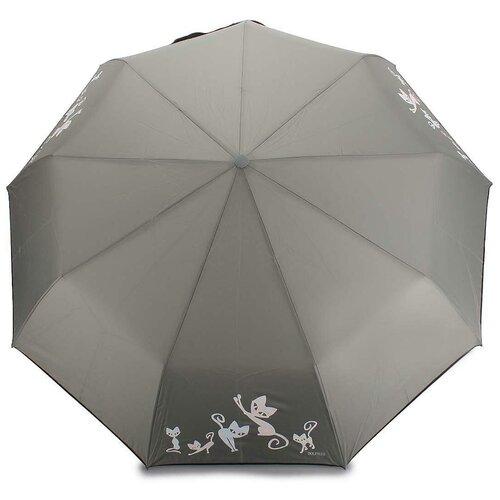 Женский зонт автомат с проявляющимся рисунком 605 Grey