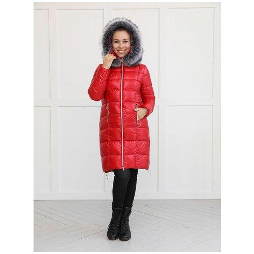 Фэст Куртка зимняя 2в1 Фэст 10303 красная для беременных (44)