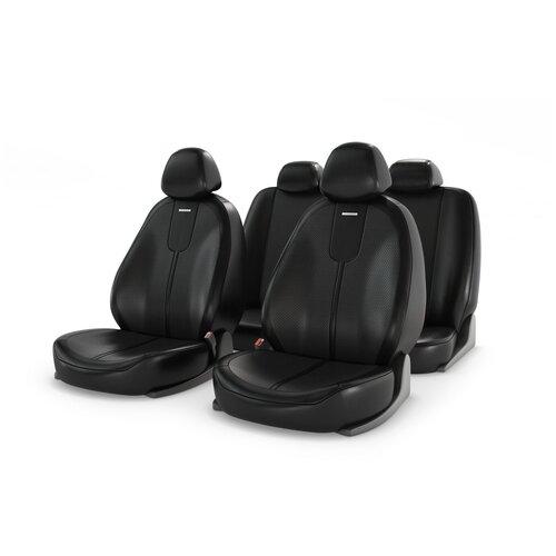 Универсальные чехлы на автомобильные сиденья CarFashion GALS черный/черный/черный