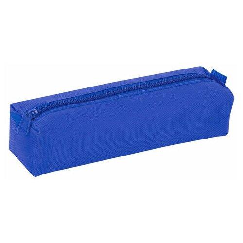 Купить Пенал-тубус пифагор на молнии, текстиль, синий, 20х5 см, 104391, Пифагор, Пеналы
