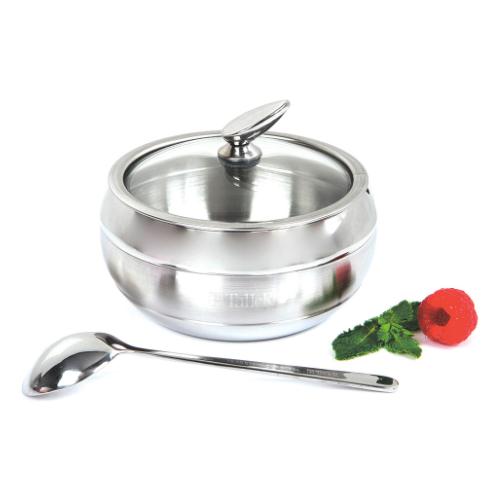 Сахарница с чайной ложкой TalleR Кэнди, сталь, вместимость 330 гр. сахарница с ложкой одри 0 33 кг tr 1123 taller