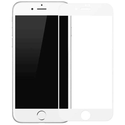 Защитное стекло для iPhone 7 Plus / iPhone 8 Plus, закаленное стекло на Айфон 7 Плюс / Айфон 8 Плюс, полный клей, белая рамка
