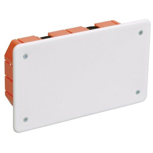 Фото - Распределительная коробка IEK КМ41026 172x96 мм белый/оранжевый распределительная коробка рувинил оп 9мод с дверцей цвет белый 68029