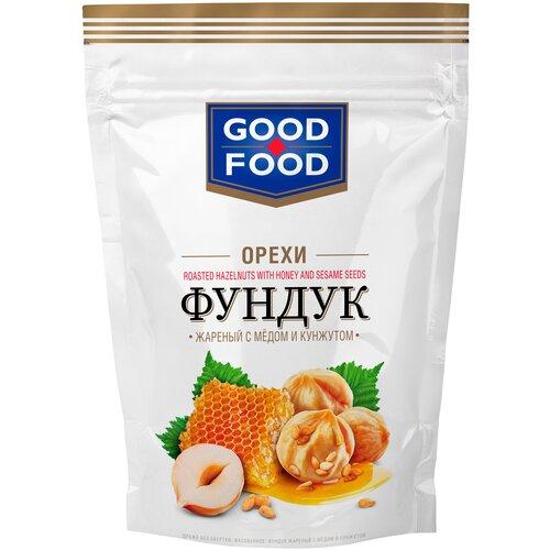 Фундук GOOD FOOD жареный с медом и кунжутом, 130 г арахис good food жареный с медом и кунжутом 130 г