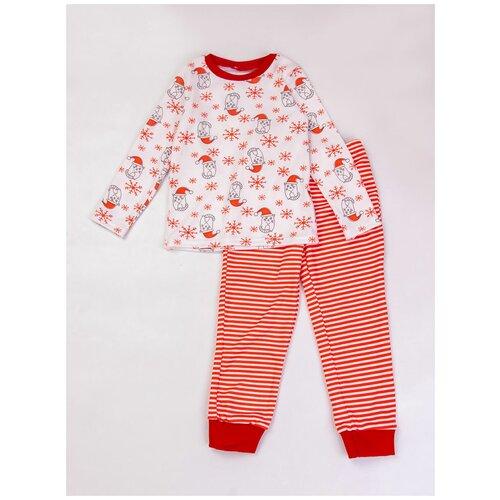 Купить 2890744 Пижама: Джемпер, брюки КИТТИ , Котмаркот, размер 116, состав:100% хлопок, цвет Белый, KotMarKot, Домашняя одежда