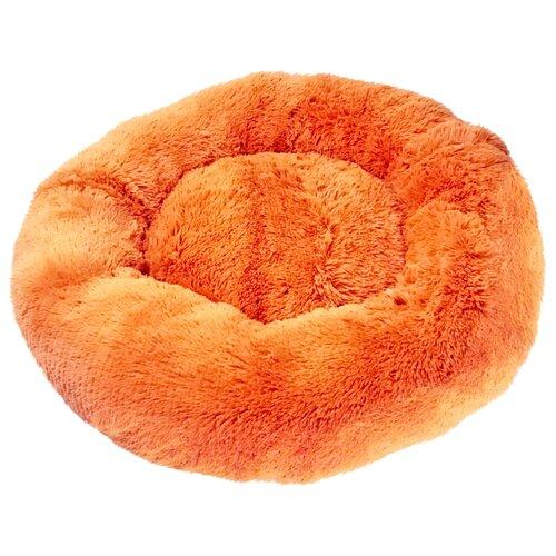 Лежак Зоогурман Пушистый сон 60х60х16 см оранжевый