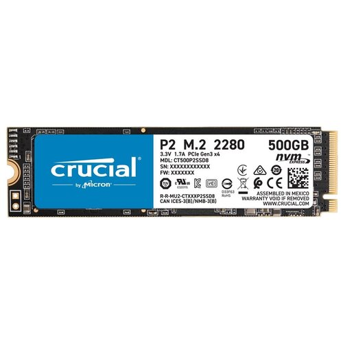 Твердотельный накопитель Crucial 500 GB CT500P2SSD8