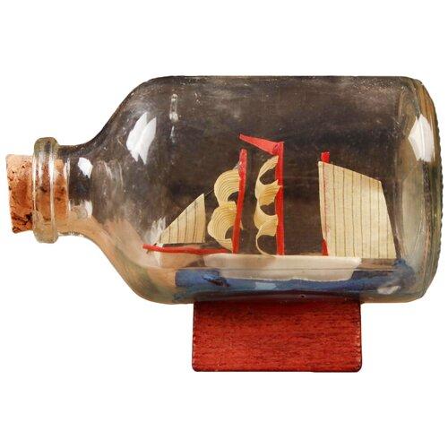 Корабль сувенирный, в бутылке, горизонт. 7,5*4*5см 5285454 по цене 215