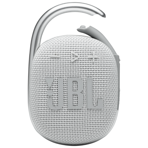 Портативная акустика JBL Clip 4, 5 Вт, белый