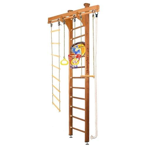 Купить Шведская стенка Kampfer Wooden Ladder Ceiling Basketball Shield высота 3 м ореховый, Игровые и спортивные комплексы и горки