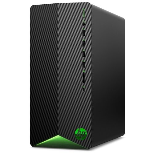 Игровой компьютер HP Pavilion Gaming TG01-0046ur (215Q2EA) Mini-Tower/AMD Ryzen 5 3600/8 ГБ/1 ТБ SSD/NVIDIA GeForce GTX 1650 SUPER/DOS черный/зеленый