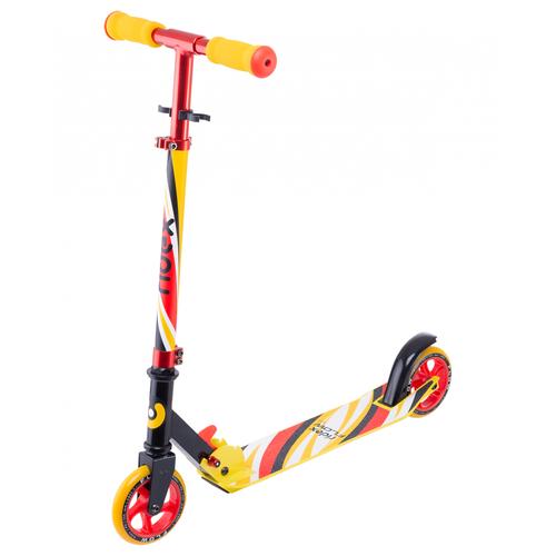 Фото - Детский городской самокат Ridex Flow, красный/желтый детский городской самокат kleefer nano 145 черный красный