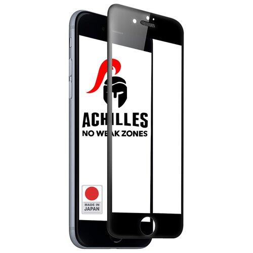 Японское противоударное стекло для телефона Apple iPhone 6, iPhone 7 и iPhone 8 с Защитной сеткой на динамике / Лучшее премиум стекло на смартфон Эпл Айфон 6, Айфон 7 и Айфон 8 / Закаленное стекло с олеофобным покрытием на весь экран / Full Glue Premium Tempered Glass от 3D до 21D (Черный)