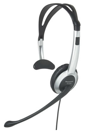 Проводная гарнитура Panasonic RP-TCA430 черно-серебристый фото 1