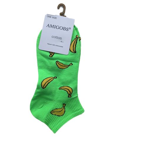 Носки AMIGOBS цветные укороченные женские, светло-зеленые