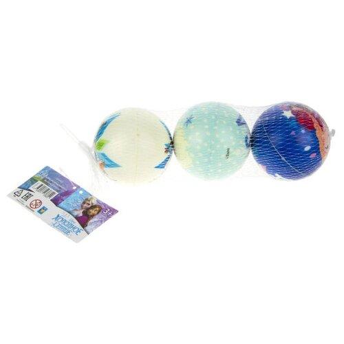 Купить Мяч 1 TOY Холодное сердце Т17375, 3 шт. в сетке, 7.5 см, Мячи и прыгуны