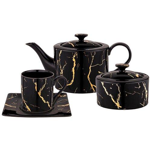 Чайный сервиз fantasy на 6 персон 14пр. черный Lefard (42-349)