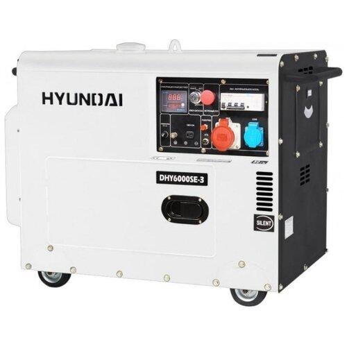 Дизельный генератор Hyundai DHY 6000SE-3 new (5000 Вт) дизельный генератор hyundai dhy 8500se 3 380 220 12 в 7 2квт