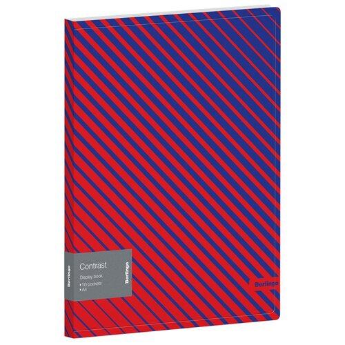 Купить Berlingo Папка с 10 вкладышами Contrast A4, пластик синий/красный, Файлы и папки