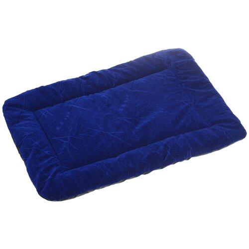 Лежак для собак и кошек Зоо Марк Матрас №4 50х70х4 см синий