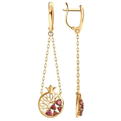 Diamant Серьги из золота с фианитами 51-121-01257-1