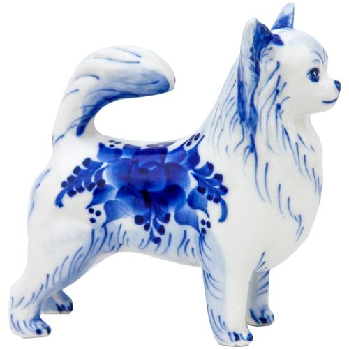 Статуэтка Собака Чихуа Породистая Гжель