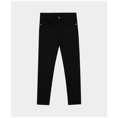 Купить Черные твиловые брюки Gulliver, модель 220GSGC6306, размер 122, Брюки